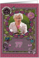 Scrapbooking effect 77th birthday card