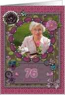 Scrapbooking effect 76th birthday card