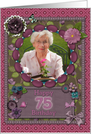 Scrapbooking effect 75th birthday card