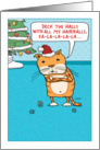 Funny Cat Hairballs for Christmas card