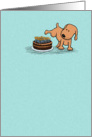 Funny peeing dog birthday card: Years Whiz By card