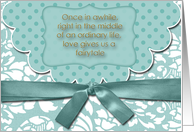 Love Gives Us a Fairytale Save the Date card