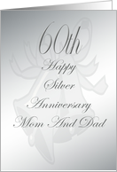 60th Wedding Anniversary For Mom And dad card