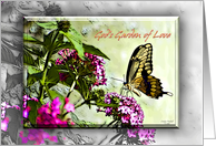 Butterfly On Flowers, God's Garden of Love card