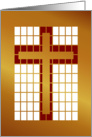 Easter Cross/Stained Glass 'Look' /Red and Gold Design card