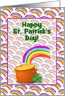 St. Patick's Day Pot Of Gold/Rainbow/Clover/Custom card
