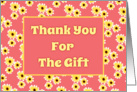 Thank You For The Gift Card With Cute Yellow Daisies/Design card