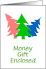 Money For You On Christmas/Card With Colorful Trees/Custom card