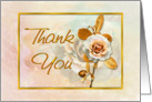 Thank You Card With Embellished Golden 'Look' card