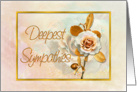 Deepest Sympathies Card With Embellished Golden 'Look' card