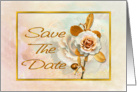 Save The Date Card With Embellished Golden 'Look' card