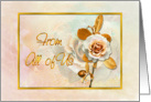 Birthday From All Of Us Card With Embellished Golden 'Look' card