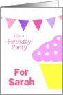 Birthday Party Invitations Party/Custom Name Card For Girls card