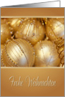 Christmas/Joyeux Noel/German Christmas/Golden Ornaments card