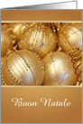 Christmas/Buon Natale/Italian Christmas/Golden Ornaments/Custom card