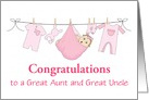 Congratulations/On Your Great Grandniece/Custom card