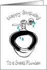 Happy Birthday/For Plumber/Toilet card