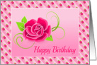 Birthday Card With Beautiful Rose Design card