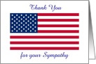 Thank You-Sympathy-American Flag-Loss Of Service Person-Custom card