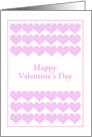 Pink Hearts For Your Valentine-Custom card
