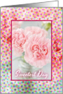 Happy Sweetest Day-Pink Carnations-Dots card