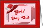 Girls' Day Out-Invitation-Red Hat-Elegant card