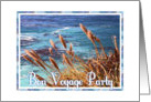 Ocean and Wheat Grass Scene-You're Invited-Bon Voyage Party card