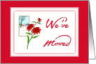 Merry Christmas-We've Moved-Poinsettia-Christmas Flower card