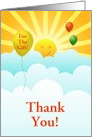 Thank You-For The Gift-Sun-Subshine and Balloons-Custom card