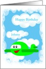 Happy Birthday--For Child-Name Card-Custom Card