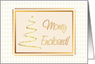 Gold Tree Christmas Card-Money Enclosed card