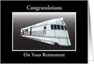 Congratulations/Retirement/Train/Custom Card