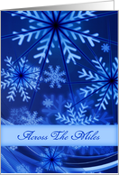 Across The Miles/Blue and White Snowflakes/Design/Custom card