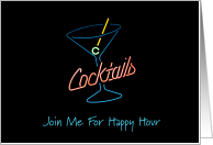 Cocktail Happy Hour Invitation card