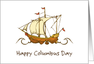 Columbus Day/Spanish Galleon card
