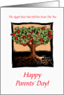 Funny Parents' Day Card With An Apple Tree/Humor card