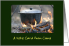 A Note Card From Camp/Campfire with Pot/Camp Notes card