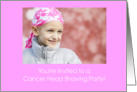 Invitation To A Cancer Head Shaving Party/Child card
