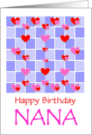 Birthday For Nana/Hearts Design/Love/Custom card