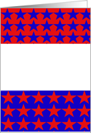 Blank Note-Custome-Red White and Blue-Stars-Patriotic card