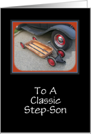 Happy Birthday Step Son-Classis Auto-Customizable Card
