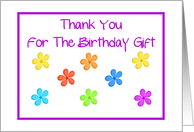 Thank You - Birthday Gift card