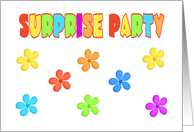 Cute Flowers-Surprise Party Invitation-Colorful Text card