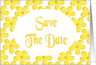 Save The Date-Engagement Party-Yellow Floral Design card