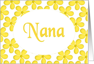 Happy Birthday - Nana - Yellow Floral Art card