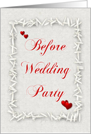 Before Wedding Party-Hearts and Rice-Elegant Background card