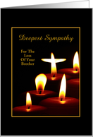 Sympathy Candles For The Loss Of Brother-Custom Card