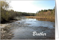 Father's Day-River Landscape-For Brother-Custom Card