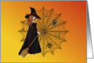 Halloween-Witch-Spiders-Web card