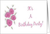 Teens Birthday Party Invitation-Painted Flowers card
